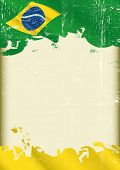 stock photo of brazilian carnival  -  Grunge brazilian poster - JPG