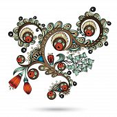 image of henna tattoo  - Henna Paisley Mehndi Abstract Floral Vector Illustration Element - JPG
