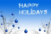 foto of happy holidays  - happy holidays back and postcard with lot of copy space for greetings - JPG
