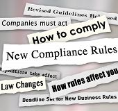 image of financial audit  - New Compliance Rules newspaper headlines Revised Guidelines Released - JPG