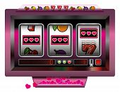 Постер, плакат: Slot Machine Hearts