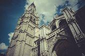 stock photo of parador  - Toledo Cathedral facade - JPG