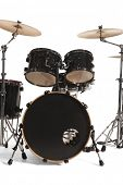 stock photo of drum-kit  - Bass Drum Kit isolated over white background - JPG