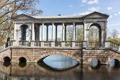 stock photo of sankt-peterburg  - Marble bridge in the Catherine Park Sankt - JPG