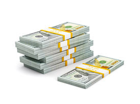 picture of 100 dollars dollar bill american paper money cash stack  - Creative business finance making money concept  - JPG