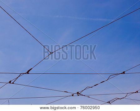 Retro Look Overhead Tram Line