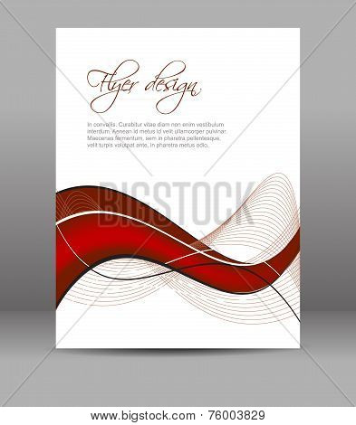 Professional business flyer template or corporate banner, brochure or document folder