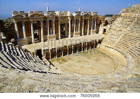 The Ancient Ruins Of Hierapolis.
