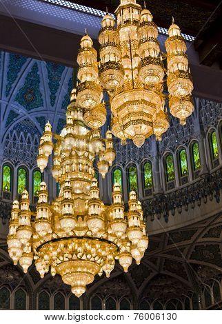 Sultan Qaboos Grand Mosque chandeliers