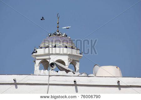 Close-up Of A Minaret In Muscat
