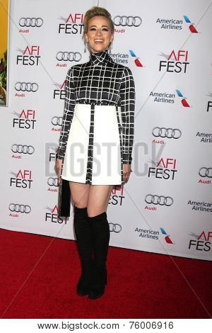 LOS ANGELES - NOV 12:  Karine Vanasse at the A Special Tribute to Sophia Loren at AFI Film Festival at the Dolby Theater on November 12, 2014 in Los Angeles, CA