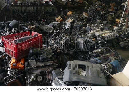 Old Car Engine Spare Parts