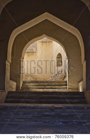 Nakhal Fort entrance door