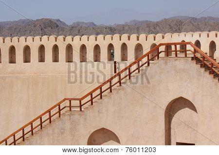 Nizwa Fort Castle architectural detail