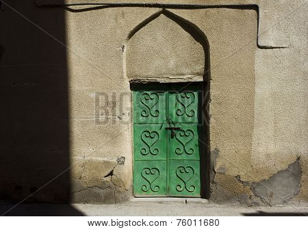 Typical Omani Private House Door