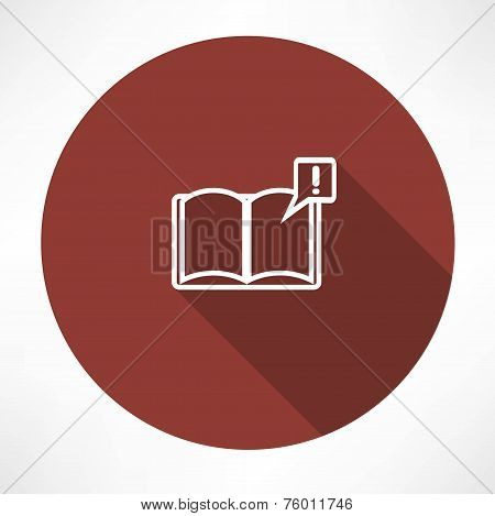 Illustration of books with symbol