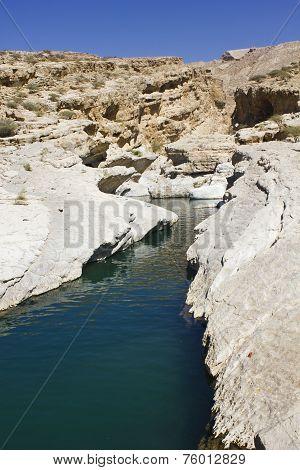 Moqul Cave river In Wadi Bani Khalid