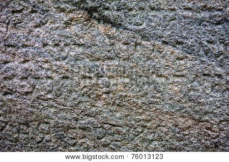Granite Surface Of The Jewish Gravestone With The Inscription