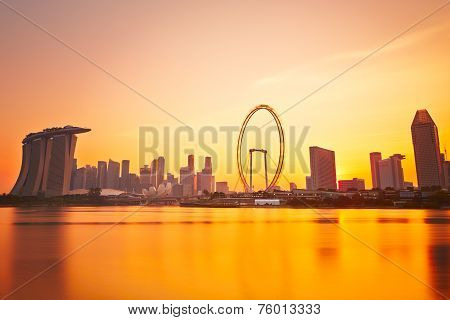 Sunset In Singapore