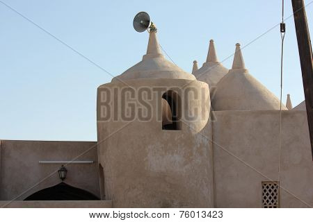 Al Samooda Mosque, Jalan Bani Bu Ali, Oman, The Very Unique Multi - Domed Mosque  In A Little Villag
