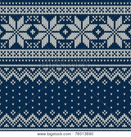 Seamless Knitted Pattern. Wool Sweater Design