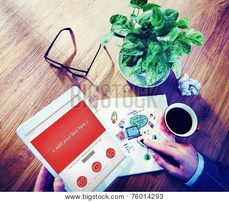 Digital Devices Create Template Display Concepts