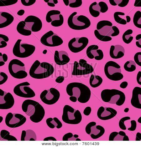 Naadloze roze leopard structuurpatroon