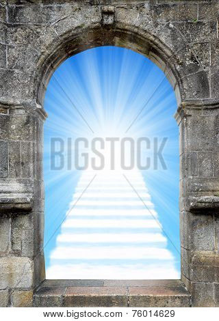 Gate with stairway to heaven