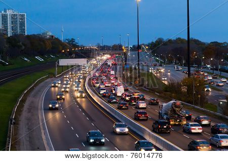 Traffic On The Gardiner Express