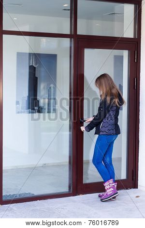 Girl With House Keys
