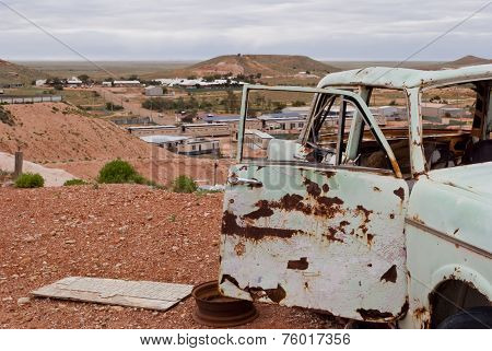 Abandoned Rusty Car In Coober Pedy, South Australia