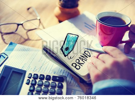 Businessman Brand Single Word Concept