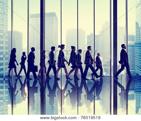 Business People Corporate Walking Travel Office Concept
