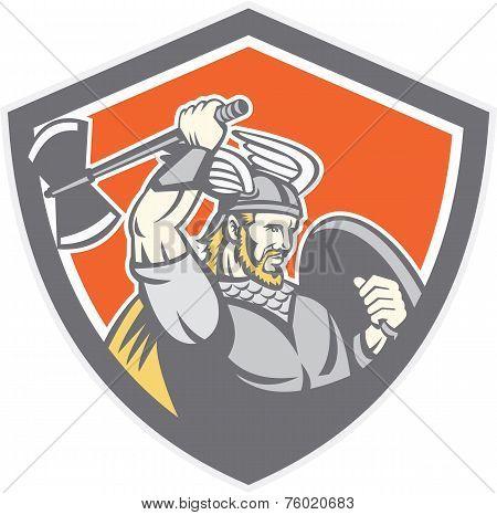 Viking Raider Barbarian Warrior Axe Shield