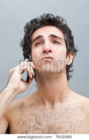 Man On A Serious Phone Call