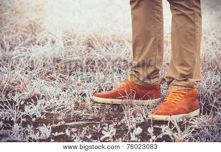 Feet Man walking Outdoor Lifestyle Fashion