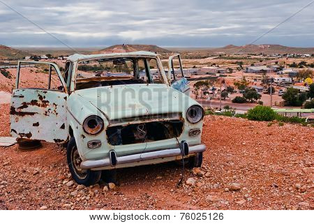 Coober Pedy, South Australia, Rusty Car