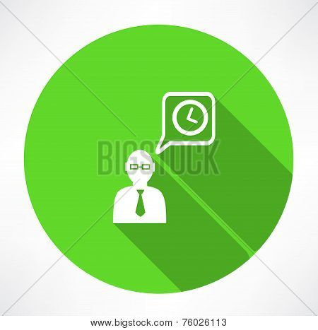 businessman talk about time icon