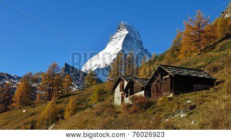 Autumn Day In Zermatt