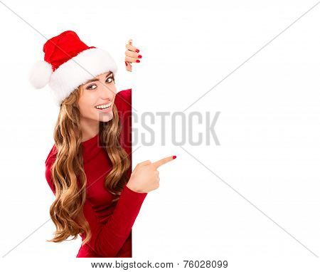 Christmas Woman In Santa Claus Costume