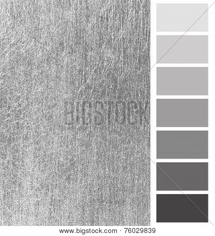 silver scratched metal color complimentary palette