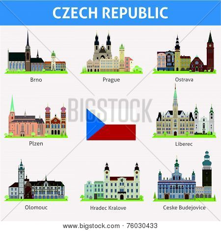 Cities of Czech Republic