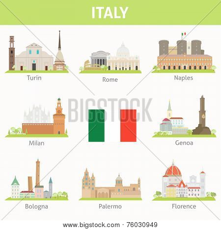 Cities in Italy