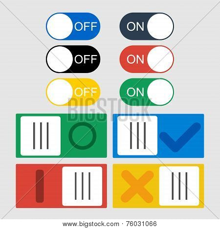 Vector Toggle Switch Icons.