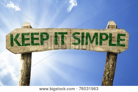 Keep It Simple sign with sky background