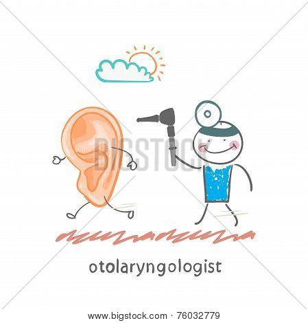 otolaryngologist  catching sore ear