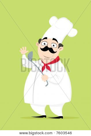Chef Posing with a ladle on his hand