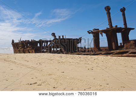 Maheno Shipwreck, Fraser Island, Australia