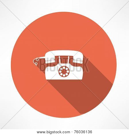 retro landline phone icon