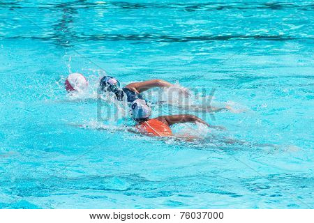 Water Polo Players In Competition